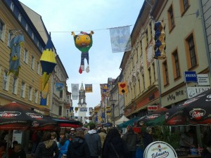 Reichenstraße is dressed up for the city fair...